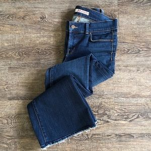 J BRAND Lovestory Flare and Frayed Jeans